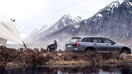 Volvo V90 stills shoot on Isle of Skye
