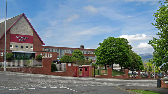 Greenock Academy Waterloo Road Location
