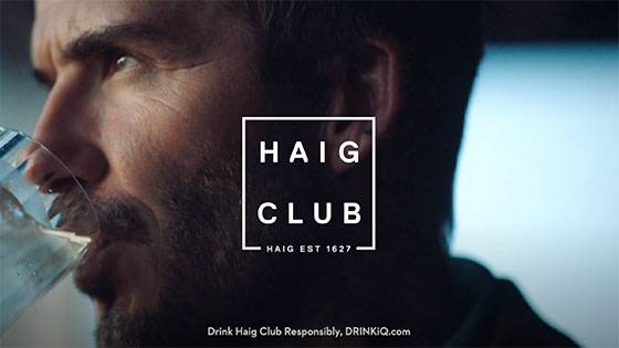 David Beckham Haig Club Commercial Still 2019
