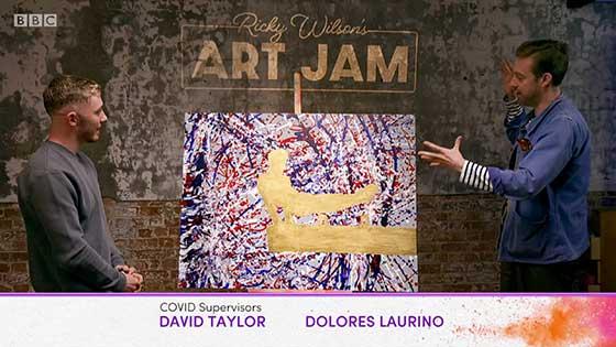 Still from Ricky Wilson Art Jam